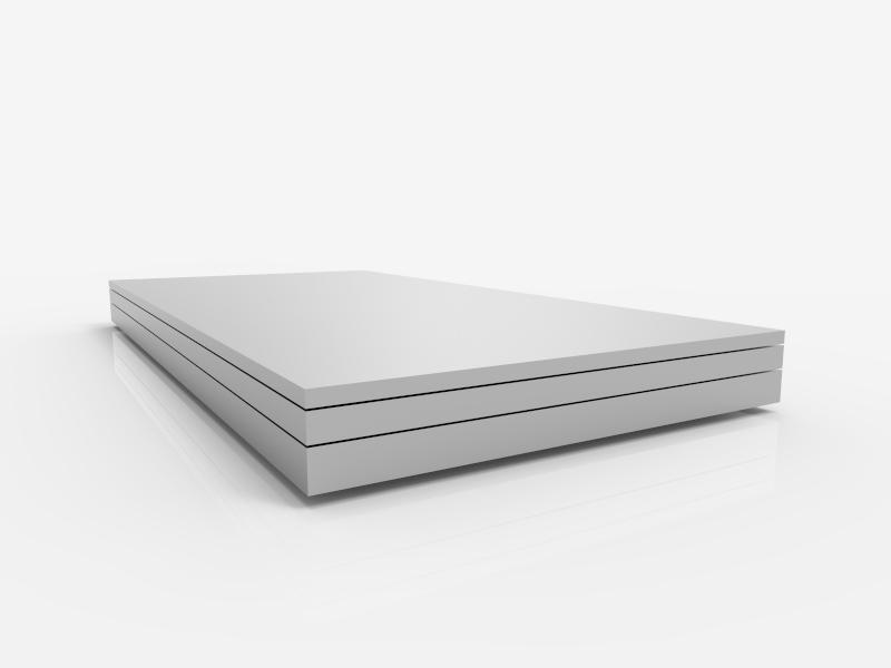 Aluminium Platte 80x80x50mm AlMg3 5754 Zuschnitt Alu Block 115,00 €//m fräsen