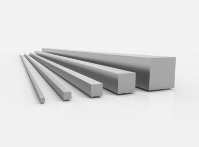 Aluminium Vierkantstangen (AlMgSi1 – 6082)